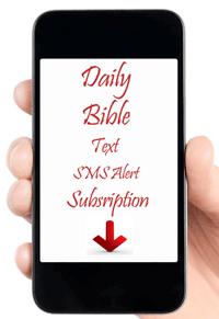 Bible SMS alert